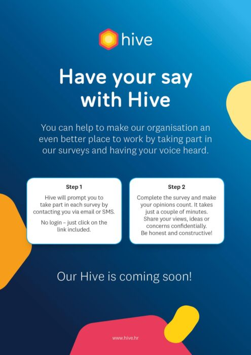 Hive Employee Desk Drop One Pager A4