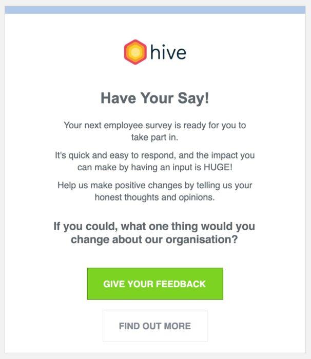 Survey Email Claire