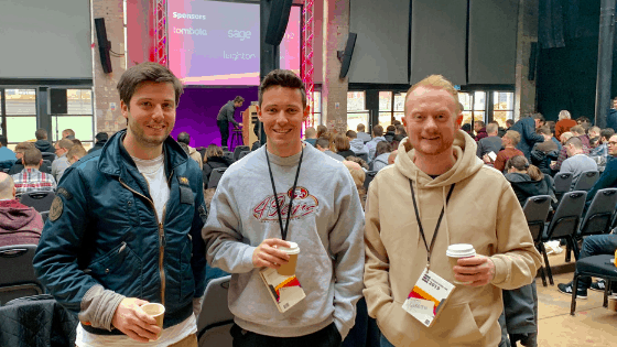 Geoff Mike Gareth at conference 2019